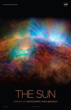 Version B of the Sun installment of our solar system poster series. Sun Solar System, Solar System Poster, Solar System Model, Solar System Tattoo, Solar System Activities, Solar System Exploration, Solar System Projects, Amazing Facts About Space, Solar System Painting