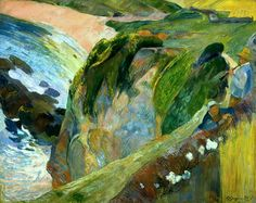 The Flageolet Player On The Cliff - Paul Gauguin