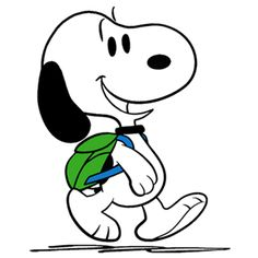 Snoopy Going for a Hike (smaller) Snoopy Love, Charlie Brown And Snoopy, Snoopy And Woodstock, Snoopy Images, Snoopy Pictures, Peanuts Movie, Peanuts Snoopy, Snoopy Quotes, Classic Cartoons