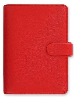 Filofax Personal Saffiano - Red