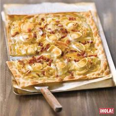 Goat cheese, bacon and rosemary honey Coca - Quiches - Comida My Recipes, Pasta Recipes, Cooking Recipes, Favorite Recipes, Quiches, Good Food, Yummy Food, Salty Foods, Snacks