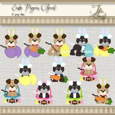 Easter Puppies digital png files for by JBrandPhotoDesigns on Etsy, $5.00
