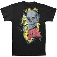 Dripping Skull T-Shirt S-5XL SCREENPRINTED Rock Mens Punk Goth Metal Grunge