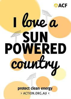 A clean energy boom is taking off across the world. Australia is lagging behind right now, but it's just a matter of time before we catch up. Sun Power, Climate Change, Conservation, Foundation, Australia, Cleaning, Earth, Conservation Movement, Foundation Series