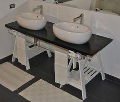 mobile, bagno, lavandini, originale, recupero, riciclo, personalizzabile