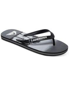 Quiksilver Men s Molokai Sunset Vibes Sandals - Black black grey 14 Black  Sandals 6d37080be