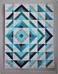 Sewing Quilts Ripple quilt - pattern by sew many creations Batik Quilts, Jellyroll Quilts, Scrappy Quilts, Easy Quilts, Cotton Quilts, Colchas Quilting, Machine Quilting, Quilting Projects, Modern Quilt Patterns