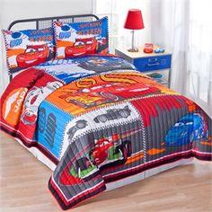 Disney Cars 2 quilt set in twin and full/queen sets Cars Bedroom Set, Disney Cars Bedroom, Car Themed Bedrooms, Bedroom Ideas, Disney Bedding, Kids Bedroom, Twin Quilt, Quilt Bedding, Kids Beds For Boys