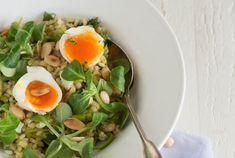 Tarly salade met asperges en ei