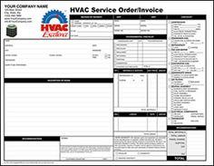 Invoice Template For HVAC HVAC Invoice Templates Pinterest - Hvac service invoice forms