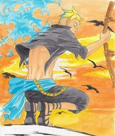 one piece, whitebeard pirates, and marco the phoenix image Marco One Piece, One Piece 1, One Piece Anime, Phoenix Images, Phoenix Art, Cartoon Games, Cartoon Art, Blade Runner, Manga Art