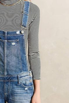Jumpsuit: ripped denim denim overalls overalls 90s style striped sweater turtleneck