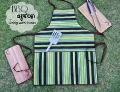 DIY this quick BBQ Apron for Dad  :)