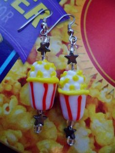 Movie Night Earring Set by MamaCassQueen on Etsy, $8.00
