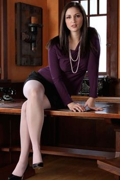 stockings Office lady