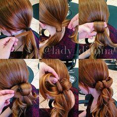 low ponytail bow (baby pony bow)