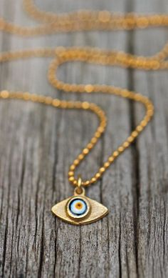 Mini Evil Eye Necklace Delicate Gold Necklace