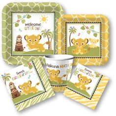 Lion King Baby Shower Supplies, Wild Animal Baby Shower Supplies