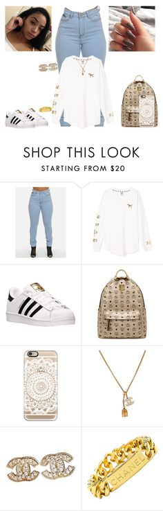 """""""Back to school#2 PINK"""" by kira101-101 ❤ liked on Polyvore featuring Victoria's Secret, adidas, MCM, Casetify and Chanel"""