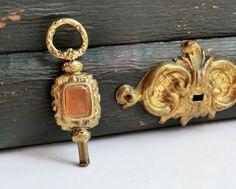 Victorian Pocket Watch Key Carnelian & Bloodstone