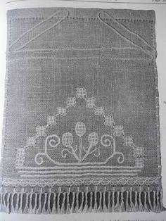 Original Vintage 1927 Carmela Testa Deruta Linen Bag / Cinch Bag Embroidery Booklet  by houseofpatterns / Etsy
