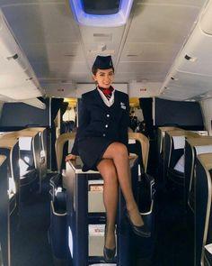 British Airways Cabin Crew, Flight Girls, Airline Uniforms, Girls Uniforms, Great Legs, Sexy Stockings, Flight Attendant, Gossip Girl, Sexy Legs