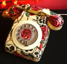 decoracion telefono vintage - Buscar con Google