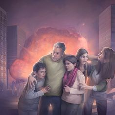 Survivors of the great tribulation cling to each other