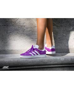 8819c8305d10 Adidas Australia Gazelle Shock Purple White Gold Metallic Trainers Metallic  Trainers