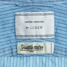 United Arrows™ for J.Crew overdyed indigo shirt in vintage stripe : United Arrows | J.Crew