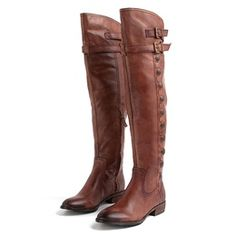 If you're looking for boots then grab a pair of over the knee boots! Sleek and sophisticated, they add a feminine touch to any outfit. Pair them with over the knee socks, or leggings for a cute Fall date night!