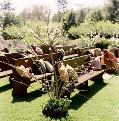 Wedding ceremony seating