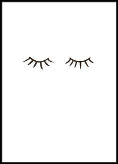 Eyelashes, affiche dans le groupe Affiches chez Desenio AB (8576)