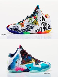 """d2711438ff6 Nike LeBron 11 """"What The LeBron"""" Hip Hop Sneakers"""