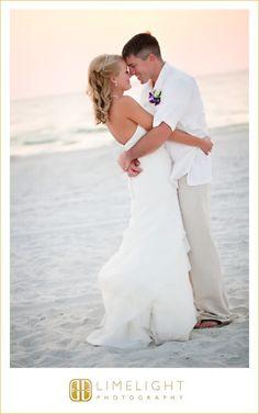Hyatt Regency Clearwater Beach, Bride, Groom, Evening Portrait, Sunset, Wedding Photography, Limelight Photography, www.stepintothelimelight.com