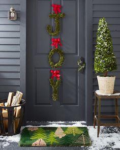Preserved-Cedar Letter Wreath Set