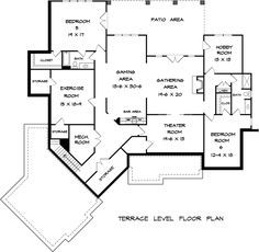 Craftsman Lower Level of Plan 58253