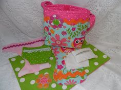 Diaper Bag Set for Dolls Owl Print Toy For by thatssewholly
