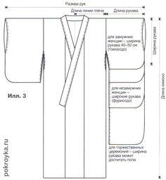 Выкройка японского кимоно | pokroyka.ru-уроки кроя и шитья