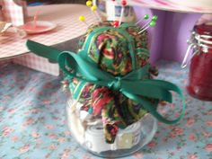 Check out this item in my Etsy shop https://www.etsy.com/listing/228853190/shabby-chic-sewing-kit-jar