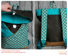 Out now: Backpack sewing instructions and patterns in 2 sizes - DIY Bags Diy Bags Tutorial, Diy Backpack, Diy Accessoires, Diy Mode, Fabric Bags, Diy Clothes, Bag Making, Purses And Bags, Big Bags
