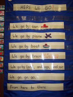 Transportation Poem - Pocket Chart Center More