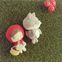 My mummy bought me those toadstools. Buy a grass mat to match! she said. And so I did.