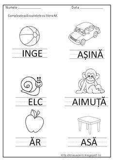 slide8 | CLASA PREGATITOARE Alphabet Writing, Writing Words, Writing Skills, Oral Motor Activities, Educational Activities, Preschool Learning, Preschool Activities, Teaching, Homework Sheet