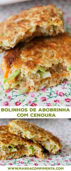 Bolinhos de Abobrinha com Cenoura