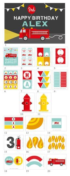 Firetruck Party Decorations Firetruck Birthday Party by maydetails