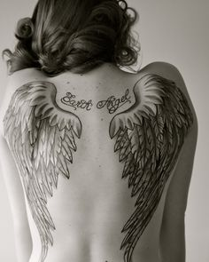 I like the shape of the wings but I would want them longer down my back...