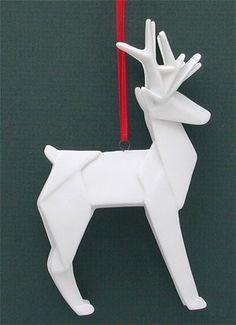 Origami Deer white