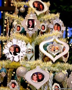 Picture-Frame Ornament Ornaments with photos of your friends and family are a great way to decorate your Christmas tree. How to Make the Picture-Frame Ornament Diy Christmas Ornaments, Handmade Christmas, Christmas Decorations, Glitter Ornaments, Quilted Ornaments, Homemade Ornaments, Childrens Christmas, Paper Ornaments, Cool Christmas Trees