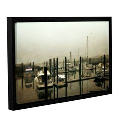 ArtWall Kevin Calkins ' Low Tide ' Gallery-Wrapped Floater-Framed Canvas